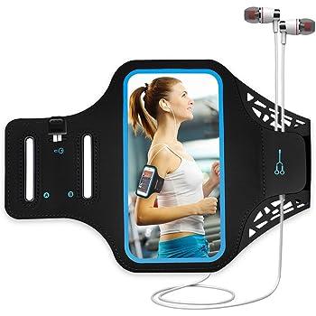 Qrity Funda Deportiva para Brazo para Celular de 4.7'' iPhone 8 7 6s 6, Material Deportivo para Deslizamiento Samsung S4, S3, S2
