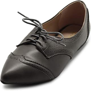 Ollio Womens 1M-1818-1 Oxford Grey Size: 10