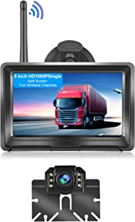$114 » Sponsored Ad - LORPHEIR Wireless License Plate Backup Camera, 5 Inch HD Monitor and Rear View Camera, Support Infrared Nig...
