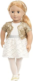 """Our Generation Holiday Hope 18"""" Doll In Sequin Outfit"""