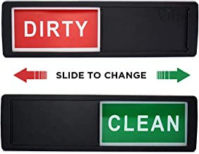 Dishwasher Magnet Clean/Dirty Sign - Easy to Read - Rust-Proof and Stain-Proof Acrylic Kitchen Gadget - With Easy Glide Shutter & Scratch Proof Pads - For Home or Office Use - Perfect Gift