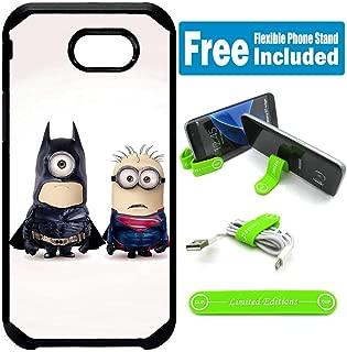for Samsung Galaxy [J7 Prime] [J7 2017] [J7 Sky Pro] [J7 Perx] [J7 V] Defender Rugged Hard Cover Case - Minions Batman Superman