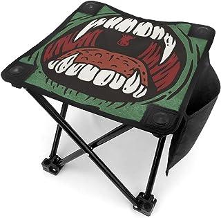 アウトドア 椅子 厄介な怖いモンスターの口 アウトドア 椅子 ピクニック 釣り コンパクト イス 持ち運び キャンプ用軽量 収納バッグ付き 折りたたみチェア レジャー 背もたれなし