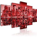 murando Cuadro en Lienzo 200x100 cm Impresión de 5 Piezas Material Tejido no Tejido Impresión Artística Imagen Gráfica Decoracion de Pared New York Ciudad Nueva York NY 030111-31