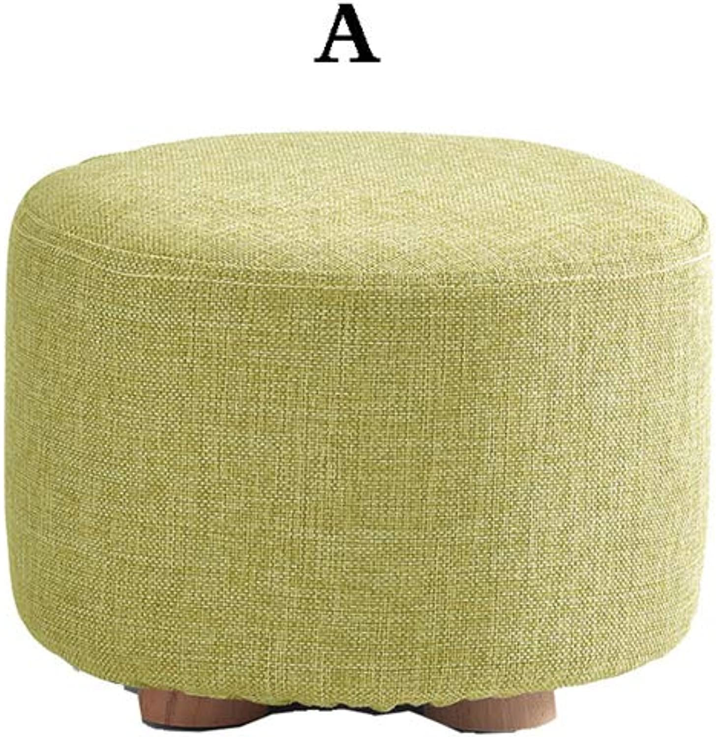 Small Stools, Solid Wood Sofa Bench, shoes Bench, Fashion Suit, Detachable, Storage, Household Items, Multi-Style (color   A)