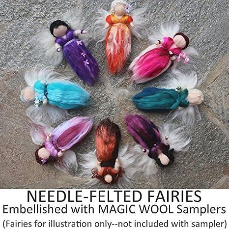 Waldorf Magic Wool Fairies Needle Wet Felting Merino Roving Tops Extra Fine 2 oz 56 gr