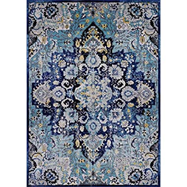Luxe Weavers Manhattan Collection Oriental Blue 5x7 Area Rug 6334