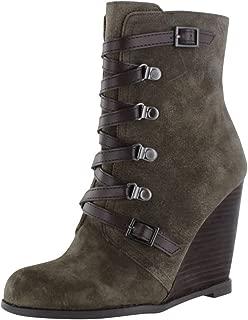 BCBG BCBGeneration Women's Kadeer Wedge Boots Suede Brown Size 8