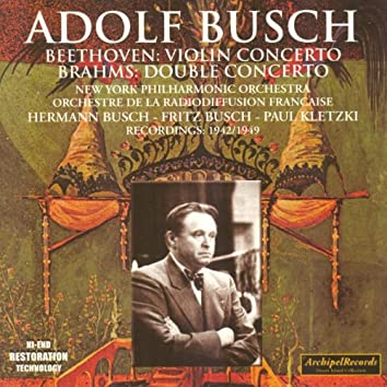 Ludwig Van Beethoven : Concerto for violin and orchestra, Johannes Brahms : Concerto for violin, cello and orchestra