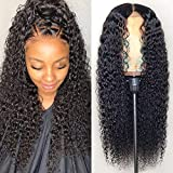 CYNOSURE Lace Front Wigs Human Hair Pre Plucked Brazilian Kinky Curly Lace Frontal Wig with Baby Hair 9A Natural Hair Wigs for Black Women(16, Curly Wigs)
