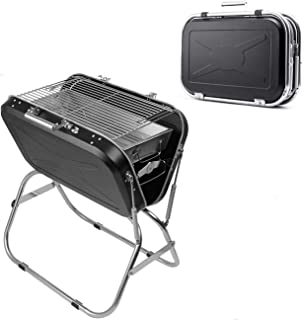 Charcoal Grill Set Portable Folding BBQ 304 Stainless Steel Camping Barbecue Cooking Grill for Outdoor Picnic Patio Backya...
