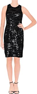 Womens Roulette Sequined Panel Evening Dress