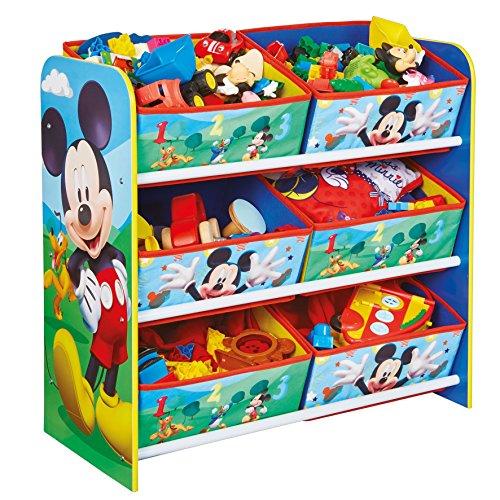 Disney Mickey Mouse Enfants Chambre à Coucher Meuble de Rangement avec 6 bacs par HelloHome