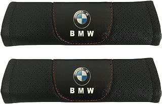 Jimat 2pcs BMW Logo Black Leather Car Seat Safety Belt Strap Covers Shoulder Pad Accessories Fit For BMW 8-series i3 i8 M2 M3 M4 M5 M6 M6 Gran Coupe M8 Gran Coupe X1 X2 X3 X4 X5 X6 X7 Z4