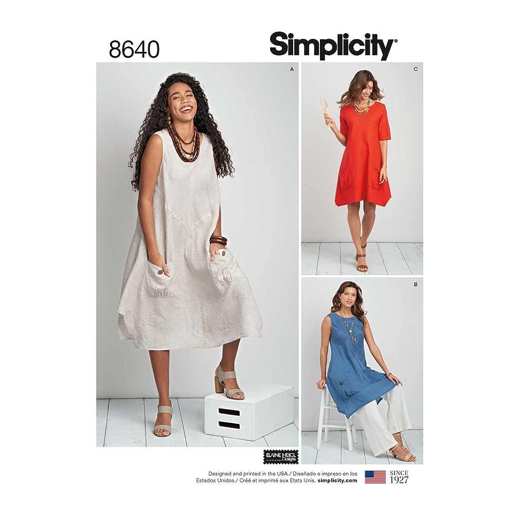 Simplicity Patterns US8640BB Dresses BB (20W-28W)