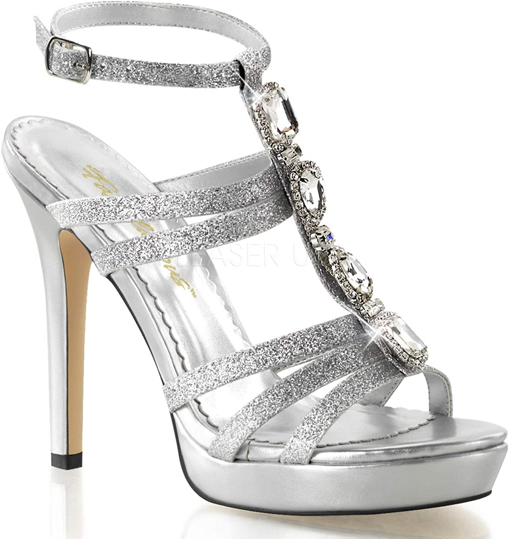 Fabulicious Women's Lumina 22 T-Strap Rhinestone Sandals