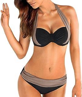 c341f4f0ac heekpek Femme Maillots de Bain Brésilien Deux pièces Sport Push Up Bikini 2  Pieces Bandage Maillot