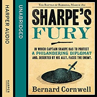 Sharpe's Fury: The Battle of Barrosa, March 1811     The Sharpe Series, Book 11              Auteur(s):                                                                                                                                 Bernard Cornwell                               Narrateur(s):                                                                                                                                 Rupert Farley                      Durée: 12 h et 33 min     12 évaluations     Au global 4,8