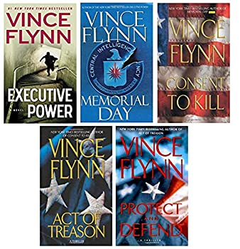 Mitch Rapp Series #2 by Vince Flynn  5 books  including Executive Power Memorial Day Consent to Kill Act of Treason & Protect and Defend