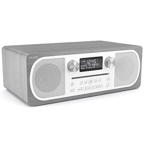 Pure Evoke CD-6 - Système stéréo tout-en-un avec radio FM/DAB+/Lecteur CD/Bluetooth - Chêne gris