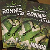 Gardner Tackle Ready Tied Ronnie Rigs (Pack of 3) - Carp Pop Up