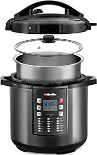 Pressure Cooker Instant Crock 10-in-1 Pot Pro Series 19 Program 6Q with German ThermaV Tech, Cook 2 Dishes at Once, BONUS TEMPERED GLASS LID, Saute, Steamer, Rice, Yogurt, Sterilizer (Renewed)