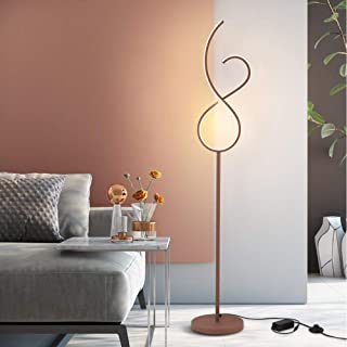 LED Floor Lamp in Metal, Remote Control Stepless Dimmable, Eye Care Standing Lamp with Foot Switch, Reading Light for Livi...