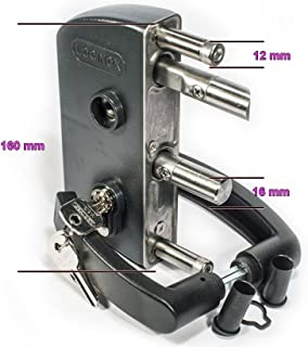 Antrazit LAKZ P1 Economical garden/pedestrian gate lock with polyamide housing and stainless steel mechanism by LOCINOX