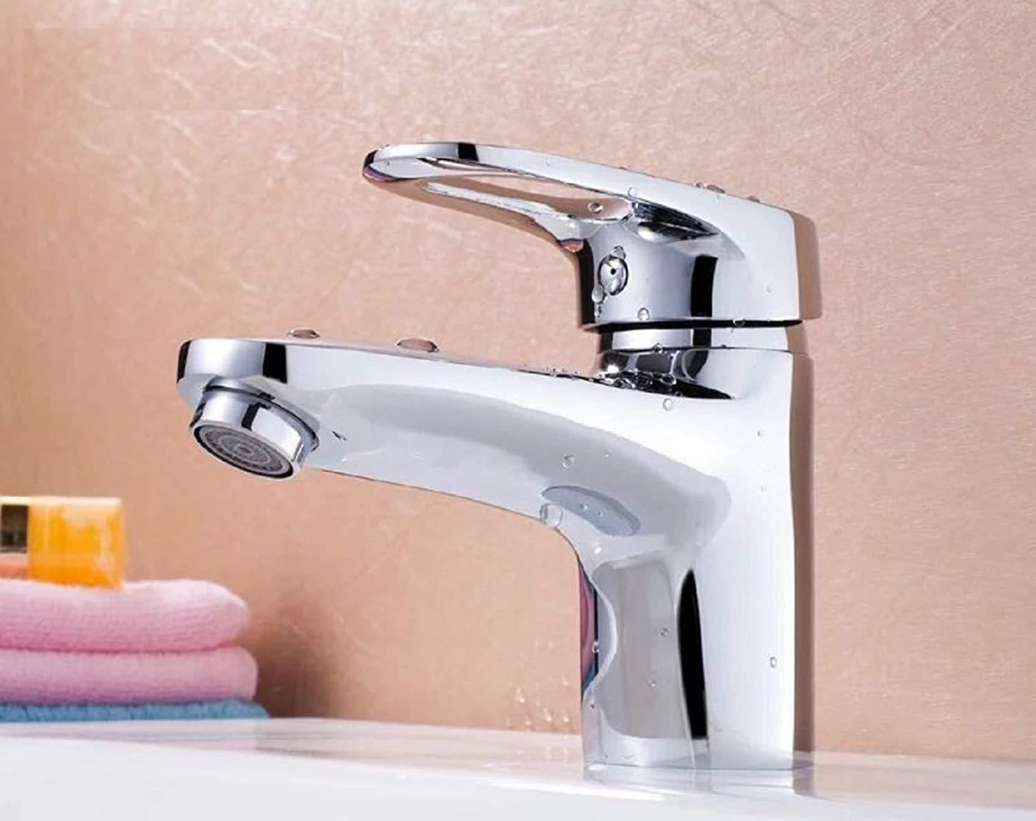 Bathroom Taps Copper Faucet Single Hot and Cold Faucet Single-Hole Basin Faucet Bathroom Sink Tap Basin Sink Mixer Tap
