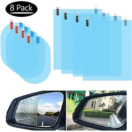 8 Stücke Rückspiegel Regenschutzfolie Regenschutzfolie Auto Regengeschützte Wasserdichte Spiegelfolie Für Auto Spiegel Und Seiten Fenster Baby