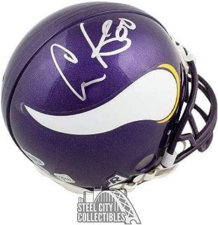 Cris Carter Autographed Helmet - Chris Mini BAS COA - Beckett Authentication - Autographed NFL Mini Helmets