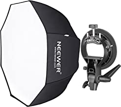 Neewer 32 inches/80 centimeters Octagonal Softbox with S-Type Bracket Holder (with Bowens Mount) and Carrying Bag for Speedlite Studio Flash Monolight, Portrait and Product Photography
