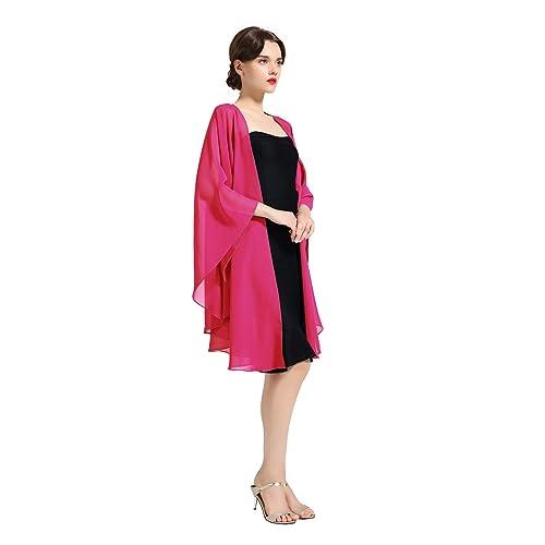 BEAUTELICATE Femme Elégant écharpe Etole Châle Foulard Boléro en Mousseline  de Soie pour Robe de Soirée a3d0851c2d9