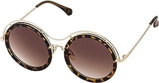 Sky Vision Panto Sunglasses for Women, Brown Lens, 48909