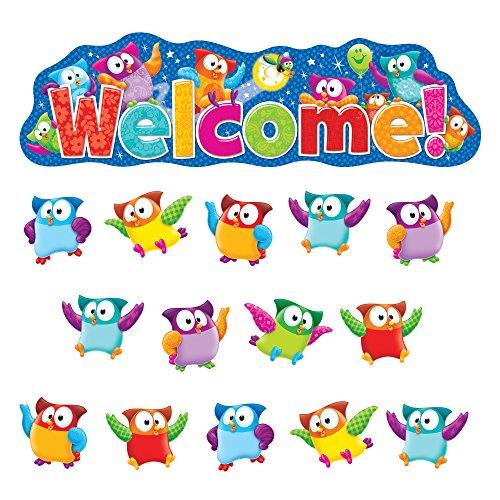 TREND enterprises, Inc. T-8367 Owl-Stars! Welcome Bulletin Board Set