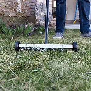 "Master Magnetics Magnet Sweeper | 14.5"" Wide Mini Magnetic Broom | Magnetic Pick-Up Tool Rolling Magnet for Picking up Nails, Screws, and Metal Debris | 07263"
