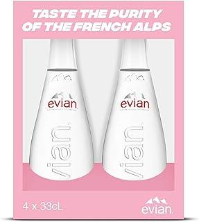 Evian Natural Mineral Water, 330 ml x 4