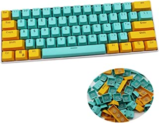 HYSSP PBT Transparent 61 Key Cap, 61 Key ANSI Layout Key Cap, Suitable for MX Switch, OEM Contour Key Cap of 60% Mechanica...