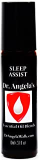 Dr. Angela's Sleep Assist Essential Oil Blend | 100% Pure Therapeutic Grade Roll-On Bottle | Natural Sleep Aid | Calms Anx...