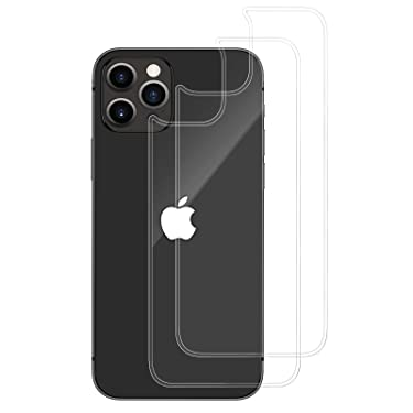 Ruky Back Screen Protector for iPhone 12 Pro Max [2-Pack], Anti Scratch, No Bubble, Anti Fingerprint, Case Friendly, Durable Back Tempered Glass Screen Protector for iPhone 12 Pro Max 6.7 inches