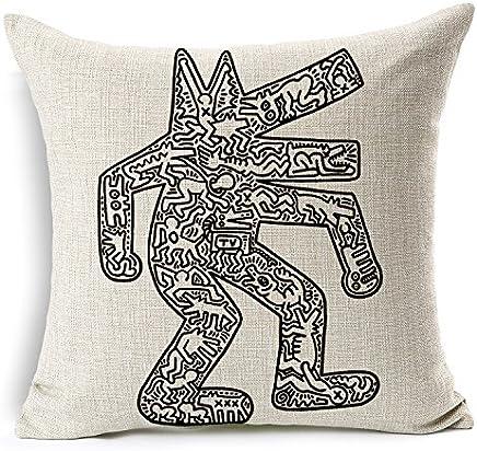 Lenzuola Keith Haring Matrimoniali.Amazon It Keith Haring Federe Lenzuola E Federe Casa E Cucina