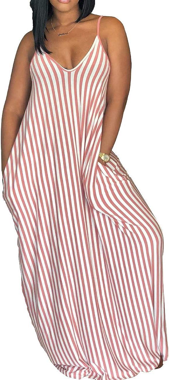 PerZeal Summer Dresses for Women Casual Beach Bohemian Plus Size Sundresses Long Maxi Dress