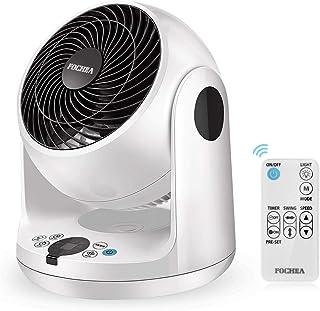 FOCHEA Ventilateur de Table, Ventilateur Silencieux Turbo Air Froid Multifonction 3 Vitesses avec Télécommande, Timer, Ven...
