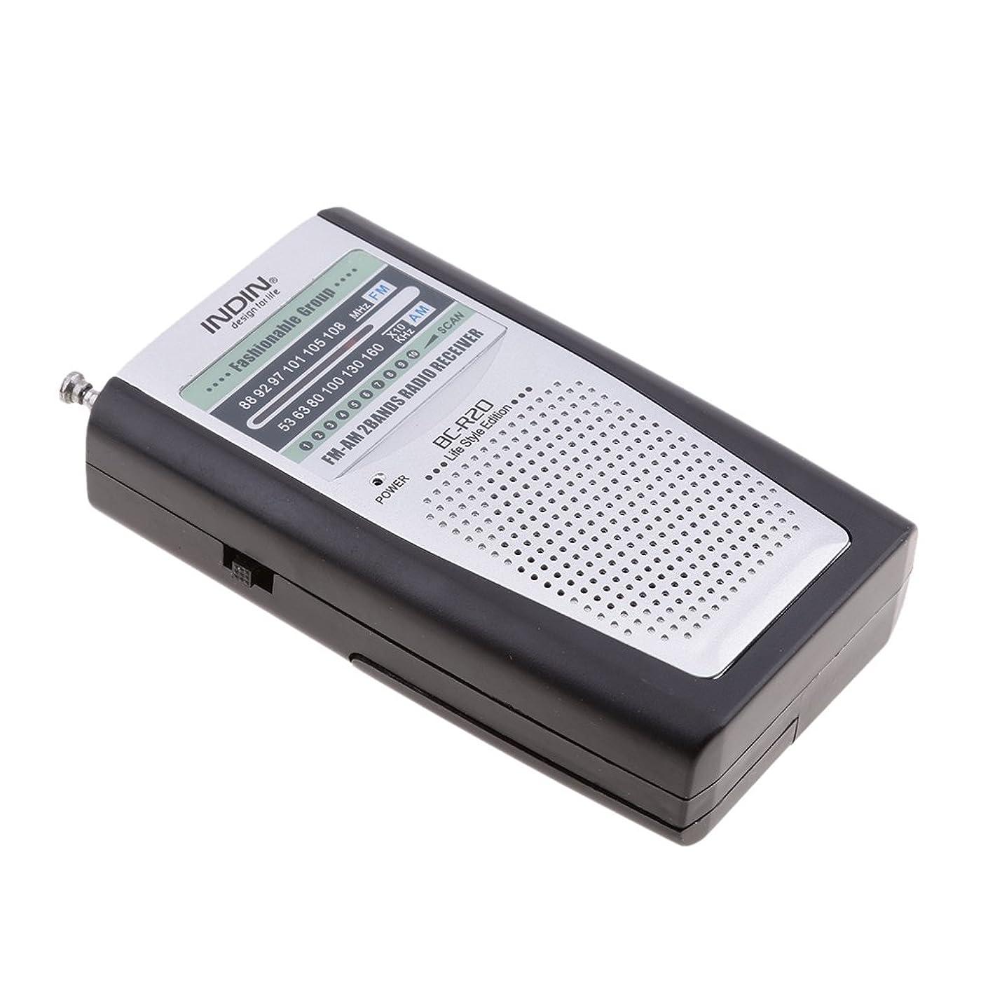 実現可能性放棄するコンパスAM FMの電池式の携帯用小型のラジオ、モノラルヘッドフォンソケット