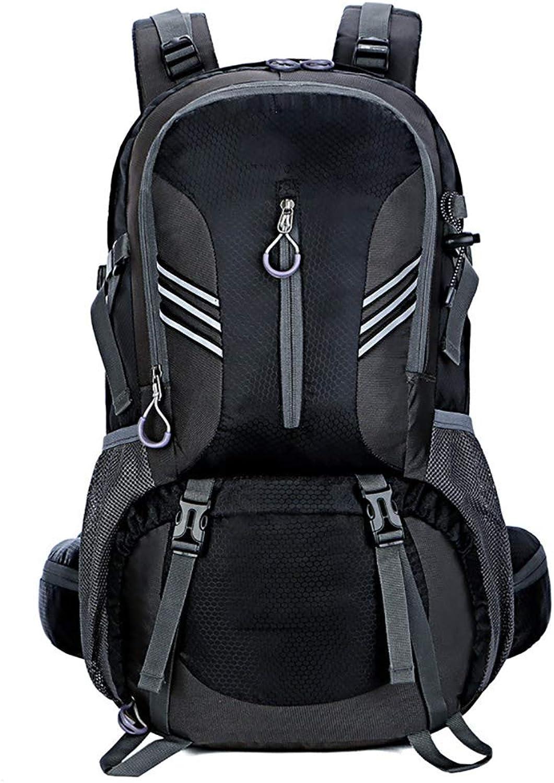 MOREJUN Wanderrucksack, 40L Ultraleicht Leichtgewichtig multifunktional lssig Camping Trekking Rucksack Radfahren Reisen Bergsteigen Klettern,schwarz