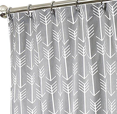 ezon-ch anpassen Play lang groß wasserdicht weiß Pfeil auf Grau Polyester-Print-Home Hotel Wohnungs Badezimmer Dusche Vorhang, White Arrow Grey