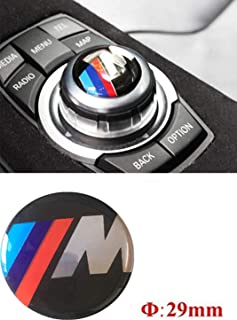 Car Controller Sticker Should for Cars with 29mm IDrive Multimedia Button Control Button M Performance 3D Sticker M3 5 E30 E36 E34 E39 E60 E65 E38