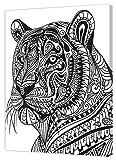 Pintcolor 9109 Künstlerleinwand, Holz, Weiß/Schwarz, 40 x
