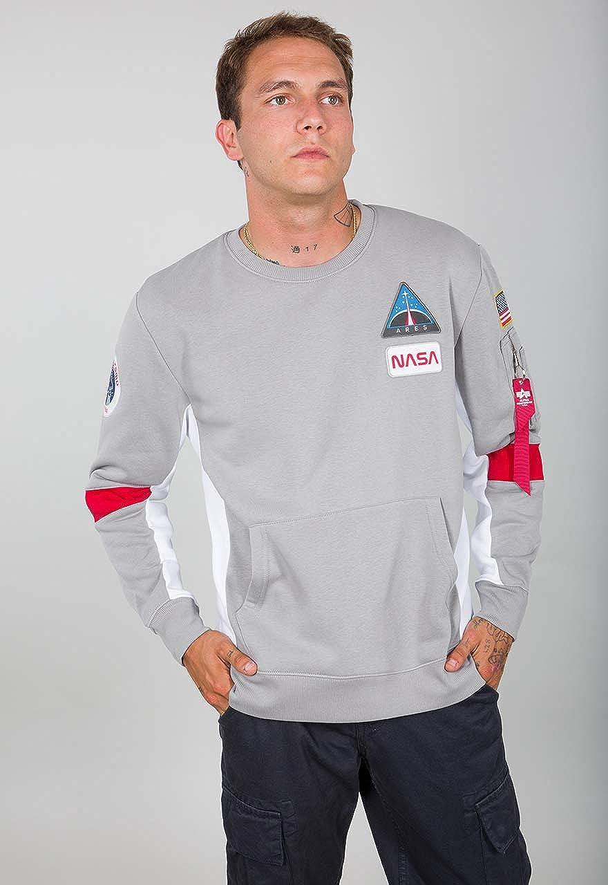 ALPHA INDUSTRIES Men Sweatshirt Space Camp Silver