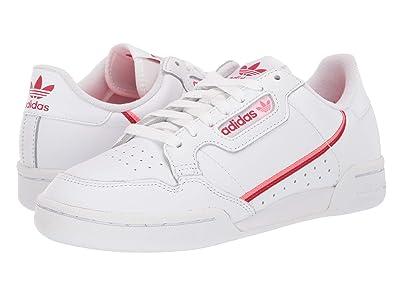 adidas Originals Continental 80 (Footwear White/Scarlet/Flash Red) Women